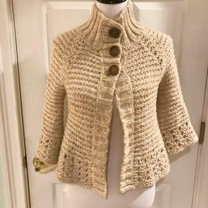 Free People Sweaters - Free People Chunky Knit Crocheted Cardigan Size S
